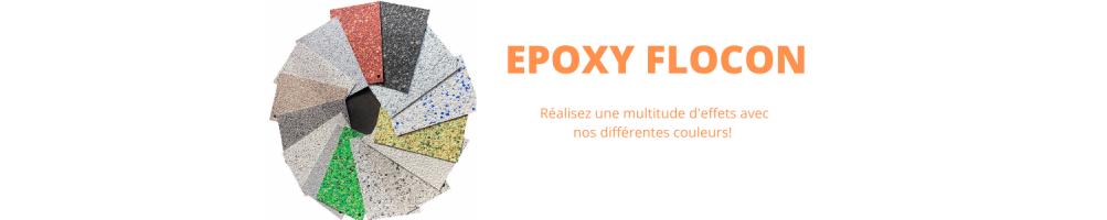 Resine epoxy flocon-un sol epoxy decorative effet granito-terrazo